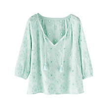 Buy Wrap London Tilly Blouse, Dusky Aqua Online at johnlewis.com