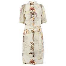 Buy Warehouse Palm Print Shirt Dress, Multi Online at johnlewis.com