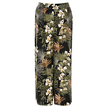 Buy Warehouse Tropical Palm Culottes, Multi Online at johnlewis.com