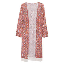 Buy Mango Fringed Printed Kaftan, Natural White Online at johnlewis.com