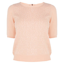 Buy Coast Arterton Sequin Knit Top, Orange Online at johnlewis.com