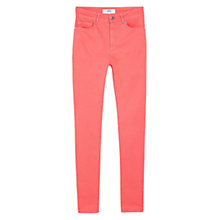 Buy Mango Skinny Brooklyn Jeans, Light Pastel Orange Online at johnlewis.com