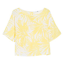 Buy Mango Printed Blouse, Yellow Online at johnlewis.com