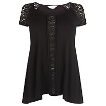 Buy Windsmoor Jersey Lace Tunic Top, Black Online at johnlewis.com
