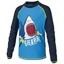 Buy Fat Face Shark Rash Vest, Cobalt Blue Online at johnlewis.com