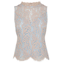 Buy Coast Silvy Lace Top, Blush Online at johnlewis.com
