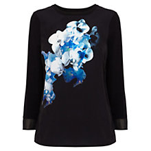 Buy Coast Fey Printed Top, Black Multi Online at johnlewis.com