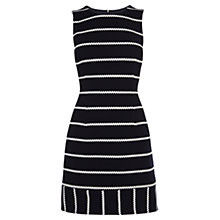 Buy Karen Millen Honeycomb Striped Jersey Dress, Blue Online at johnlewis.com