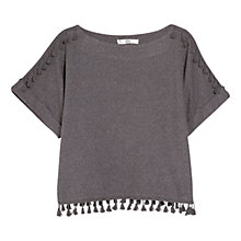 Buy Mango Tassel Jumper, Dark Grey Online at johnlewis.com