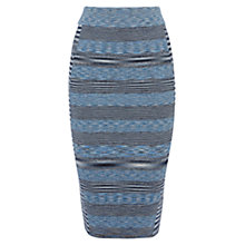 Buy Karen Millen Space Dye Denim Skirt, Blue/Multi Online at johnlewis.com