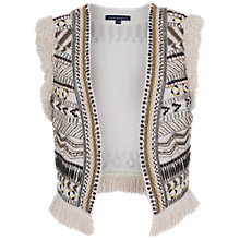 Buy French Connection Cerro Embroidered Waistcoat, Brule Online at johnlewis.com