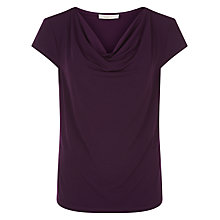 Buy Kaliko Cowl Neck T-shirt, Mid Purple Online at johnlewis.com