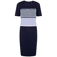 Buy Jaeger Jersey Engineered Dress, Multi Blue Online at johnlewis.com
