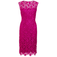 Buy Gina Bacconi Swirl Flower Guipure Dress, Pink Online at johnlewis.com