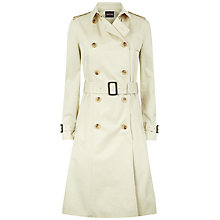 Buy Jaeger Double-Breasted Trench Coat, Fog Online at johnlewis.com