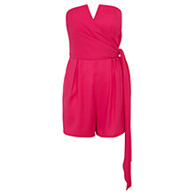Buy Coast Petite Tatianna Playsuit, Fuchsia Online at johnlewis.com