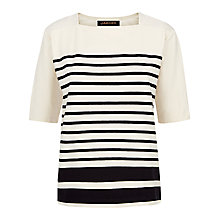 Buy Jaeger Engineered Striped T-Shirt, Multi Blue Online at johnlewis.com