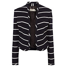 Buy Karen Millen Jersey Tailored Jacket, Blue Online at johnlewis.com