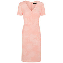 Buy Jaeger Silk Flower Dress, Coral Pink Online at johnlewis.com
