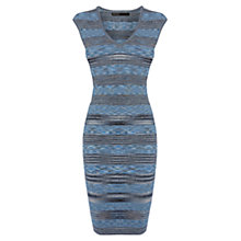 Buy Karen Millen Space Dye Denim Dress, Blue/Multi Online at johnlewis.com