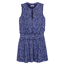 Buy Mango Printed Dress, Navy Online at johnlewis.com