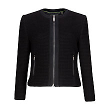 Buy Ted Baker Eni Textured Cropped Jacket, Black Online at johnlewis.com