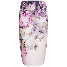 Buy Ted Baker Pure Peony Ombre Skirt, Multi Online at johnlewis.com