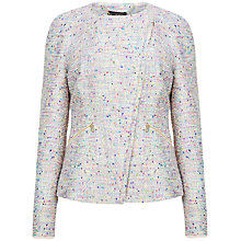 Buy Ted Baker Obelia Boucle Biker Jacket, Nude Pink Online at johnlewis.com