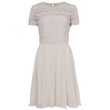 Buy French Connection Kristal Dress, Porcelain Online at johnlewis.com