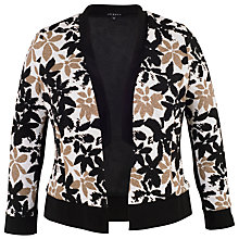 Buy Chesca Trim Fancy Floral Shrug, Ivory/Black Online at johnlewis.com