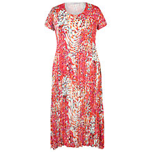 Buy Chesca Bubble Print Chiffon Crush Pleat Dress, Bright Pink Online at johnlewis.com