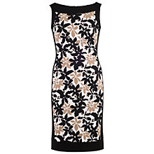 Buy Chesca Band Trim Fancy Print Dress, Ivory/Black Online at johnlewis.com