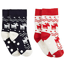 Buy John Lewis Baby's Fairisle Terri Socks, Pack of 2 Online at johnlewis.com