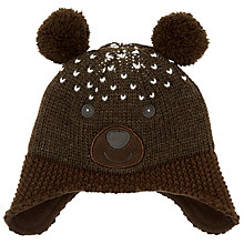 Buy John Lewis Girls' Bear Hat Online at johnlewis.com
