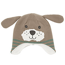 Buy John Lewis Baby's Dog Hat, Green Online at johnlewis.com
