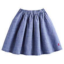 Buy Little Joule Girls' Spot Print Woven Skirt, Chambray Online at johnlewis.com