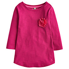 Buy Little Joule Girls' Corsage Appliqué Jersey Top, Ruby Online at johnlewis.com