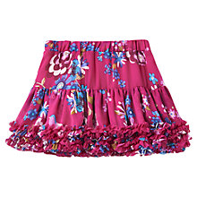 Buy Little Joule Girls' Multi Floral Print Skirt, Ruby Online at johnlewis.com