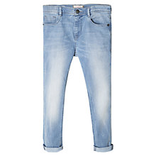 Buy Mango Kids Girls' High Waist Skinny Jeans, Beach Blue Online at johnlewis.com