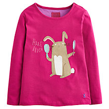 Buy Little Joule Girls' Hare Brush Top, Pink Online at johnlewis.com