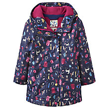 Buy Little Joule Girls' Pony Club Waterproof Coat, Navy Online at johnlewis.com