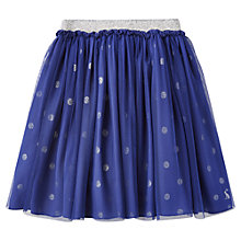 Buy Little Joule Girls' Glitter Spot Party Skirt, Navy Online at johnlewis.com