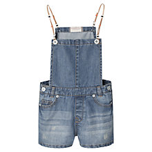 Buy Mango Kids Girls' Ethnic Denim Dungarees, Medium Blue Online at johnlewis.com
