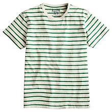 Buy Joules Skipperton Stripe T-Shirt, Grass Green Online at johnlewis.com