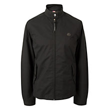 Buy Pretty Green Kingsway Harrington Jacket, Black Online at johnlewis.com