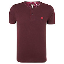 Buy Pretty Green Short Sleeve Marl Grandad T-Shirt Online at johnlewis.com