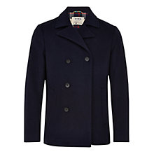 Buy HYMN Chaplin Peacoat, Black Online at johnlewis.com
