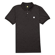 Buy Pretty Green Polka Dot Polo Shirt, Black Online at johnlewis.com