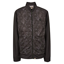 Buy Pretty Green Forthsea Paisley Print Track Suit Jacket, Black Online at johnlewis.com