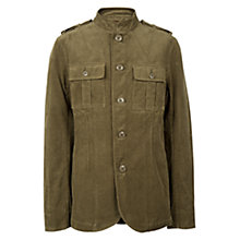 Buy Pretty Green Lennon Canvas Jacket, Khaki Online at johnlewis.com